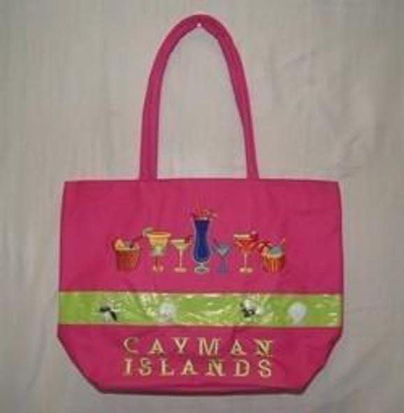 Drinks and Shells Cayman Islands Beach Bag
