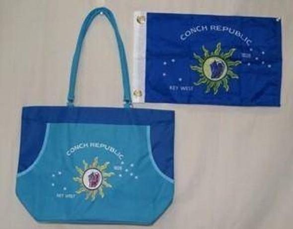 Conch Republic Logo - Key West - Beach Bag