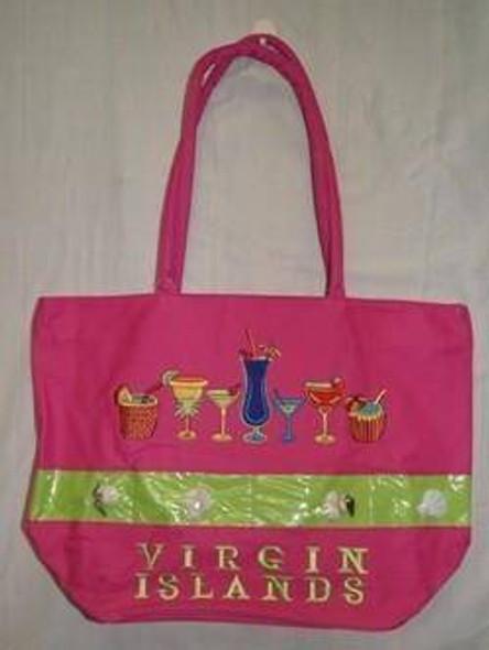 Drinks and Shells Virgin Islands Beach Bag