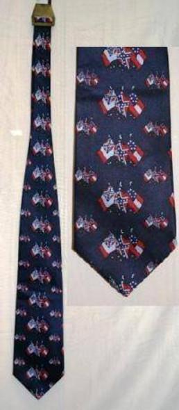 3 Flag CSA Neck Tie