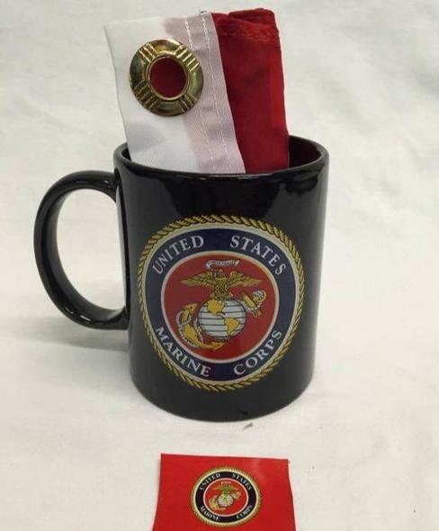 Black USMC Marine Corp Emblem Mug