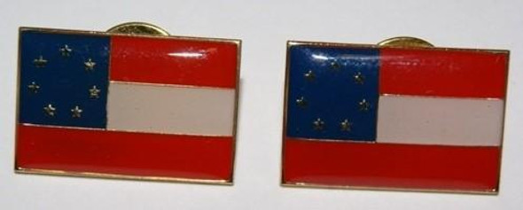 1st National 7 Stars Confederate Flag Pin