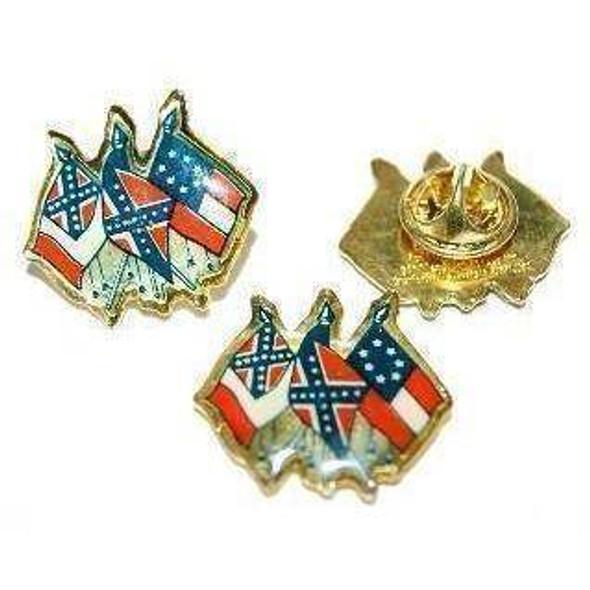 3 CSA Flags Pin