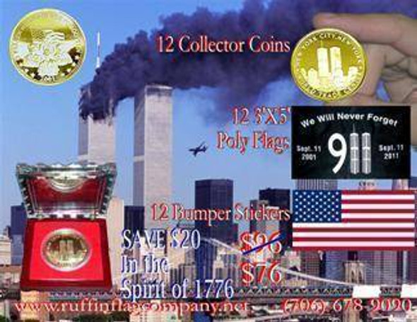 911 Coin and Bumper Stickers Collection