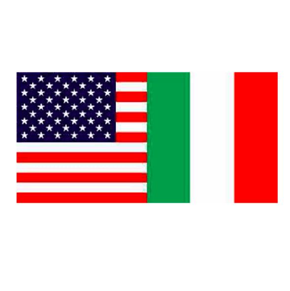 USA Italy Friendship Bumper Sticker