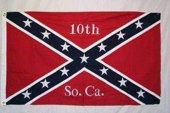 10th Infantry South Carolina Rebel Flag - Cotton - 3x5 ft on sale