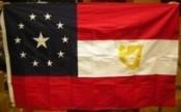 3x5 11 Stars and Bars 1st Confederate Irish with Harp Cotton Flag