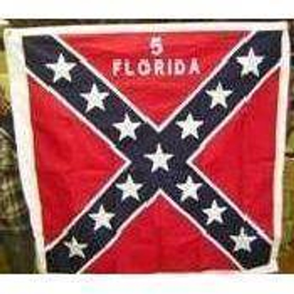 52 x 52 Inch 5th Infantry Florida Cotton Flag