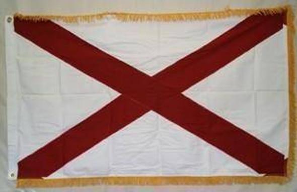 Alabama Flag with Fringes Cotton 3x5 ft.