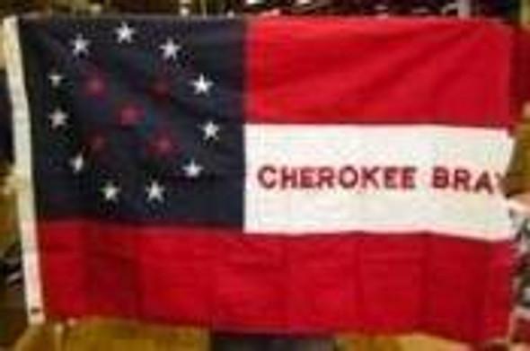 Cherokee Braves Flag Cotton 3x5 ft.