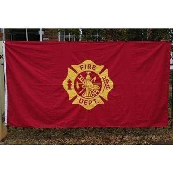 Fire Department Flag MALTESE CROSS Cotton Flag 5 x 9.5 ft.