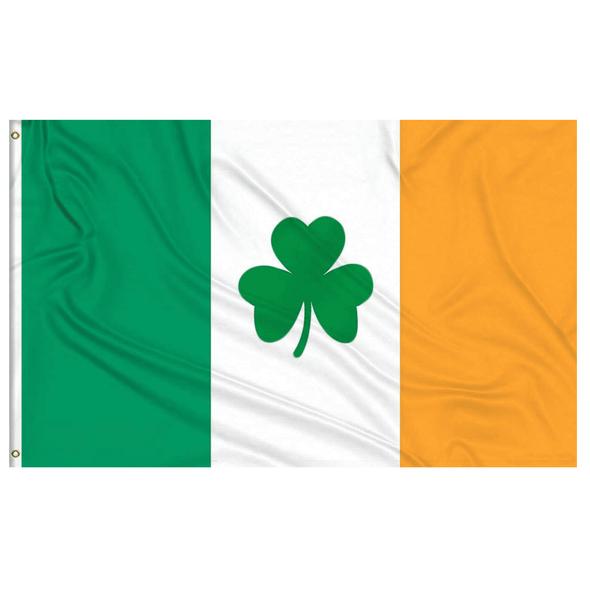 Ireland Shamrock 2 ply Nylon Sewn Flag 3x5 ft. 600D