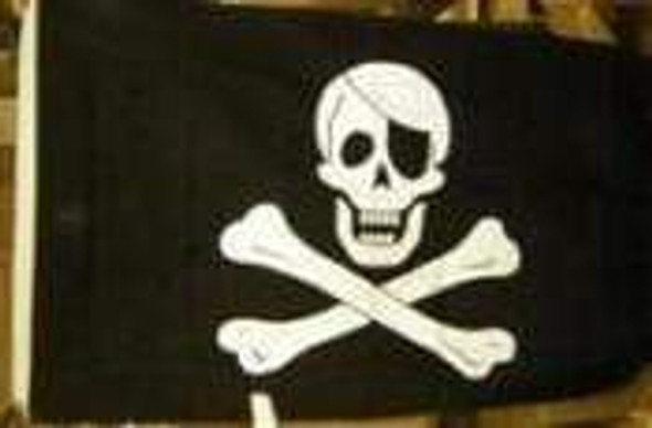 Jolly Roger Pirate Flag with Patch Cotton Flag