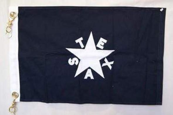 "16""x24"" Lorenzo De Zavala Flag Texas First Republic Cotton grommets"