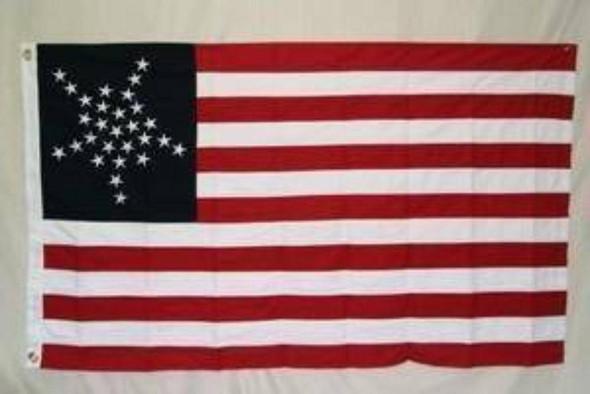 Texas Great Luminary 28 Star US Flag Cotton 3x5