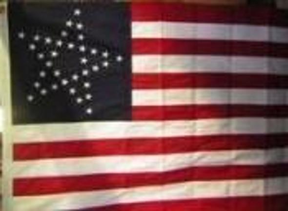 35 Star USA Flag Star - Great Star Flag  Cotton 3 x 5 ft.