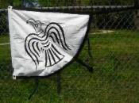 Viking Raven Flag - Cotton 2x3 ft