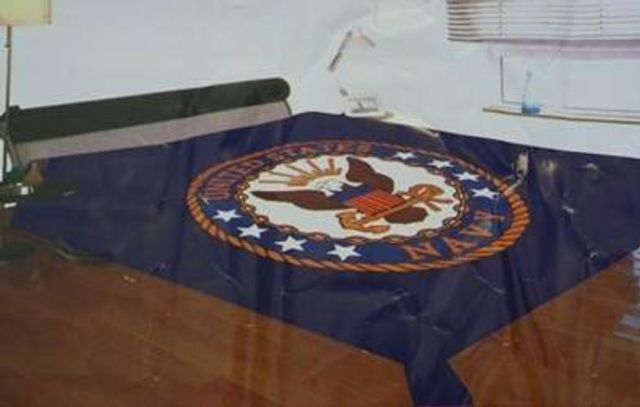 Queen Sized Bed Navy Mink Blanket