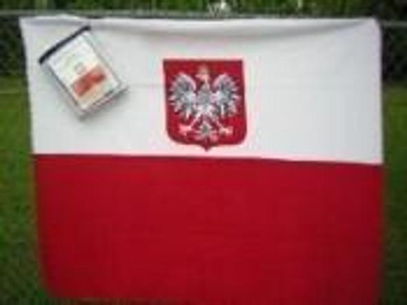 Old Poland With Eagle Fleece Blanket