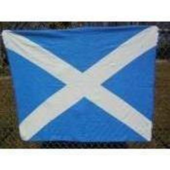 Scotland St. Andrew's Cross Fleece Blanket