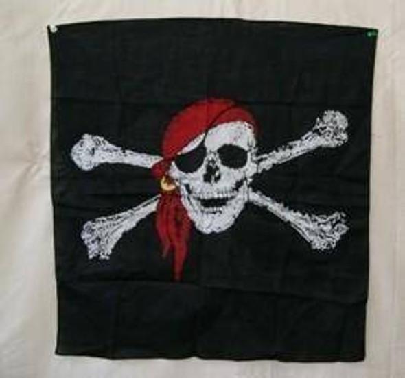 Large Pirate Red Hat Bandana