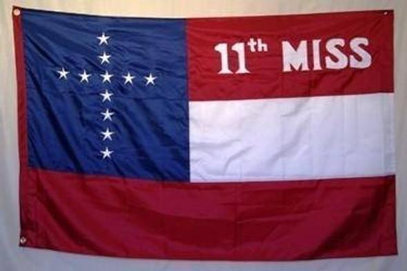11th Mississippi Nylon Embroidered Flag 4x6 ft.