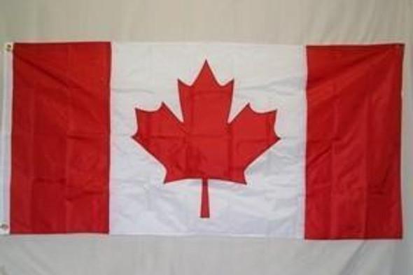 Canada Flag - Nylon Embroidered Flag 3 x 6 ft.