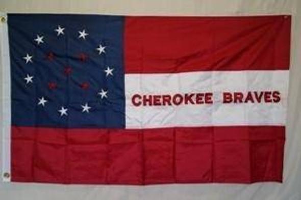 Cherokee Braves Nylon Embroidered Flag 3 x 5 ft.