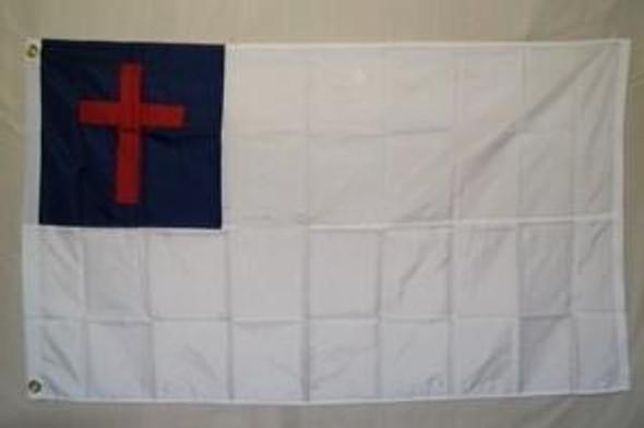 Christian Nylon Embroidered Flag 2 x 3 ft.