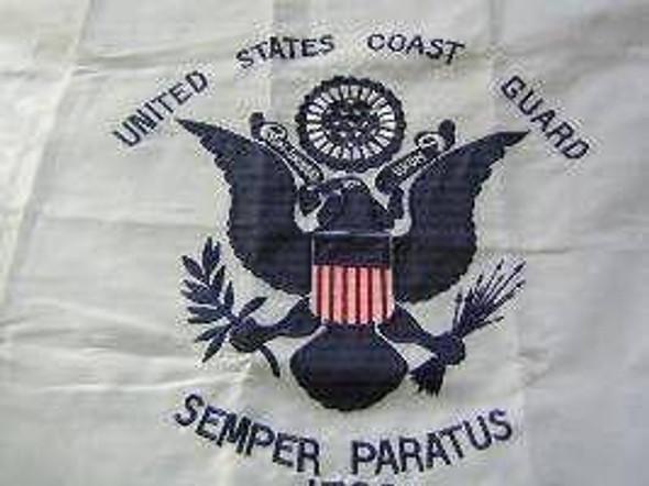 Coast Guard Nylon Embroidered Flag 2 x 3 ft.