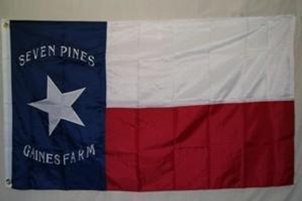 Texas Hoods Brigade (Seven Pines) Flag Nylon Embroidered 3x5 ft