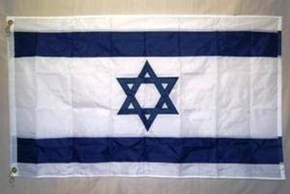 3x5 Israel Flag Nylon Embroidered Star of David