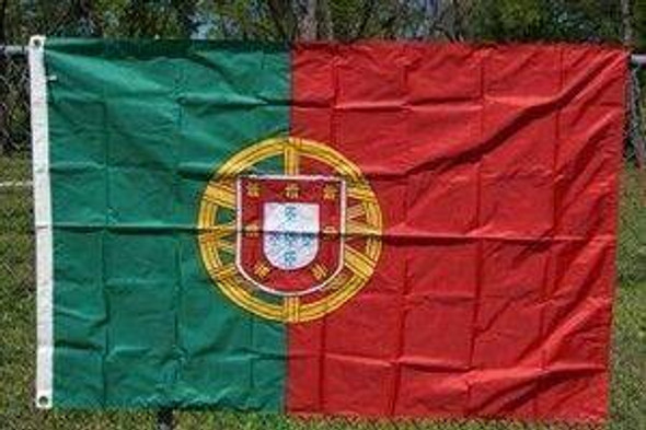 Foot Portugal Nylon Embroidered Flag 4 X 6 ft.