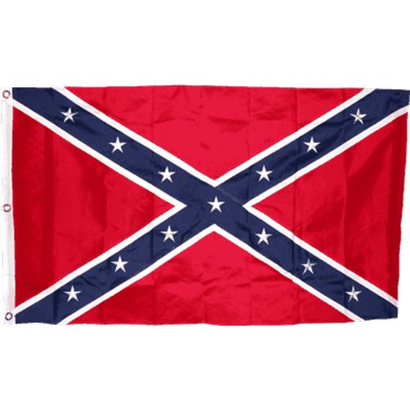 Classic Confederate Flag Nylon Sewn Rebel Flag Huge