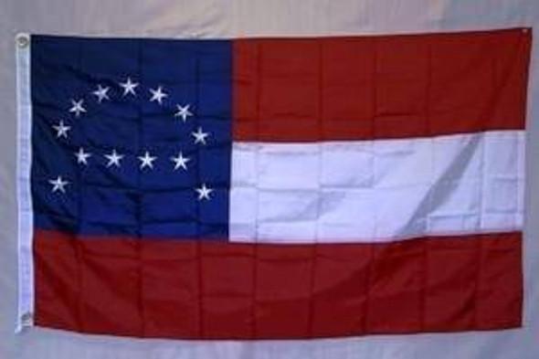 Confederate Robert E Lee Headquarters Flag Nylon Embroidered 3 x 5 ft.