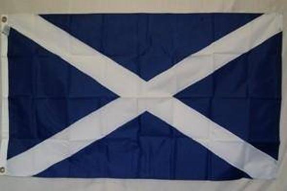 Scotland Flag, St. Andrews Cross Flag Nylon Embroidered 3 x 5 ft.