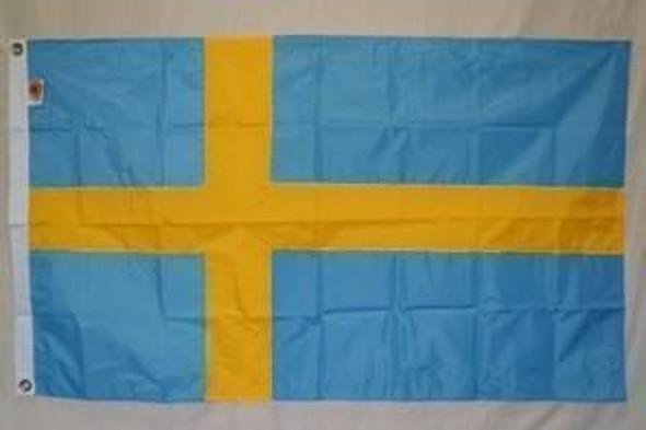 Sweden Nylon Embroidered Flag 3 x 5 ft.
