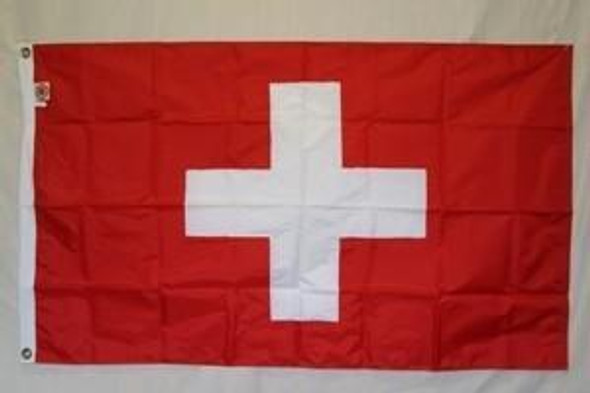 3'x5' Switzerland Flag Nylon Cut & Sewn