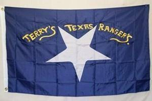 Confederate Terry's Texas Rangers Flag Nylon Embroidered 3 x 5 ft.