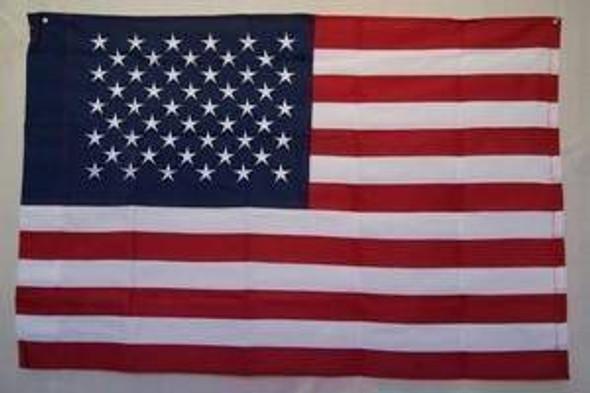 50 Star USA Flag - American Flag - Nylon Embroidered - 3 x 5 ft - with Pole Hem Sleeve