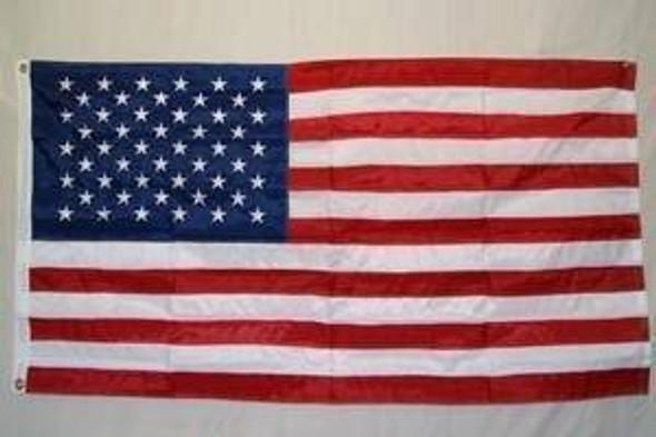 50 Star USA Flag - Nylon Embroidered - 5 x 8 ft Jumbo