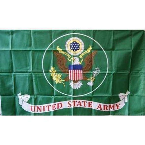 Army Green Nylon Printed Flag 3 x 5 ft.