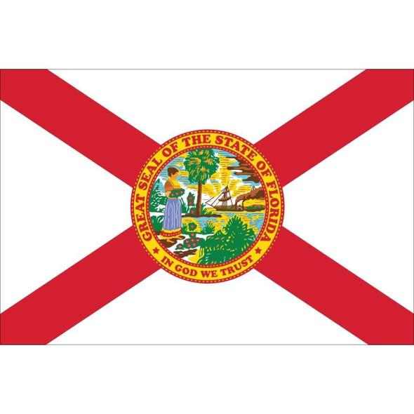 3x5 Florida Nylon Printed Flag