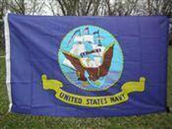 Navy Flag - Nylon Printed Flag 2 x 3 ft.