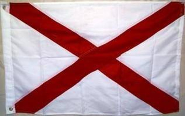 Alabama Double Nylon Embroidered Flag 3 x 5 ft.