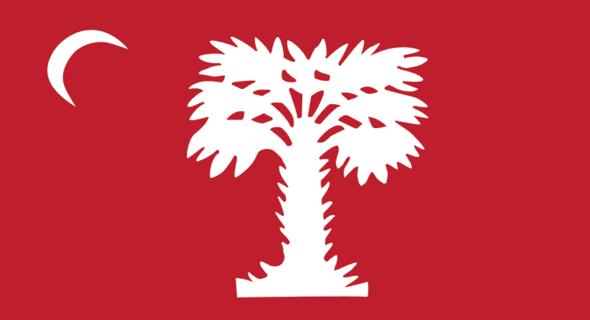 South Carolina Big Red Flag 2 ply Nylon Embroidered Citadel 3x5