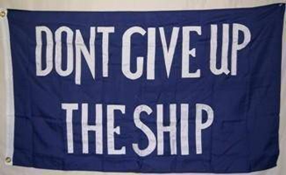 3x5 Commodore Perry Flag  2 ply Nylon Embroidered Don't Give up the Ship