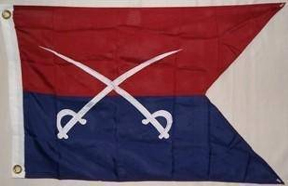 Custer Double Nylon Embroidered Flag 3 x 5 ft.