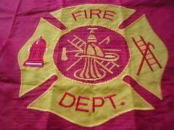 Fire Dept 2 Ply Nylon Embroidered Flag