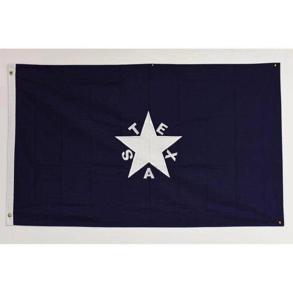Lorenzo De Zavala Flag 2 Ply Nylon Embroidered
